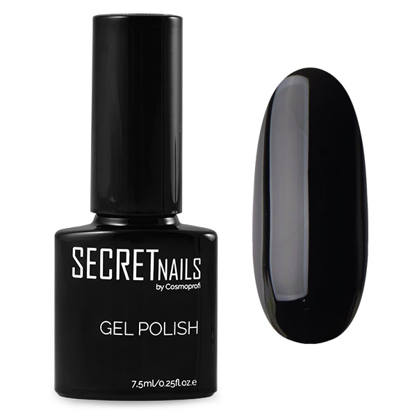 Гель-лак SECRETnails №1, черный - 7,5 мл